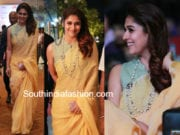nayanthara in linen saree at Hindu World Of Women 2018 Awards