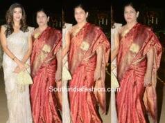 nirmala manchu at c kalyan son wedding pattu saree