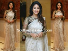 NIVETHA PETHURAJ IN WHITE SAREE AND BLACK NET BLOUSE