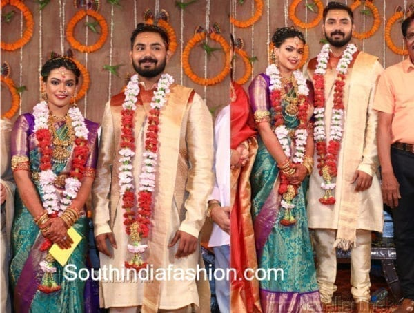 parthiban daughter keerthana marriage photos