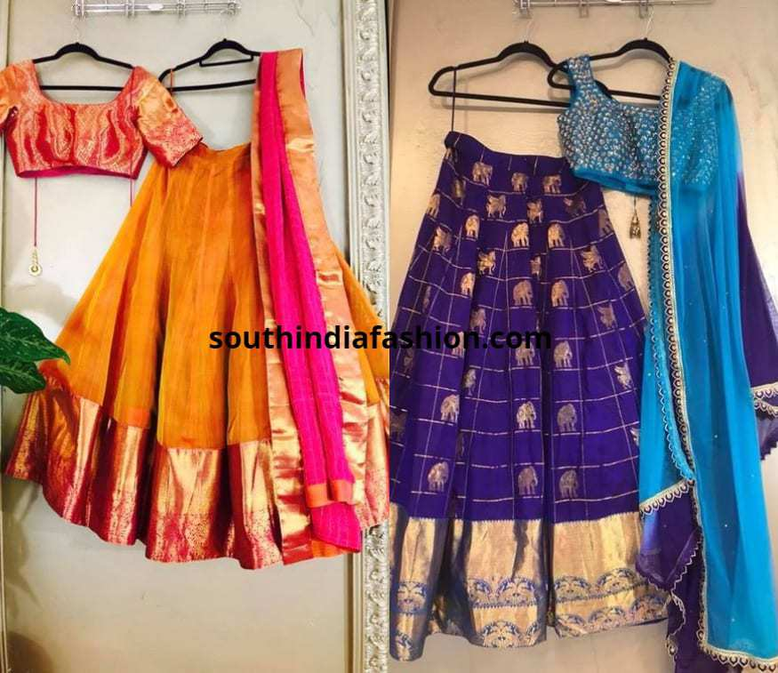 traditional silk half sarees