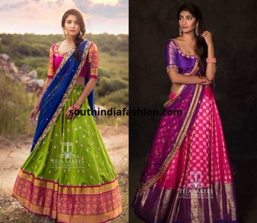 pattu hallf sarees designs