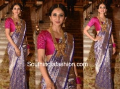rakul preet singh banarasi saree teach for change event