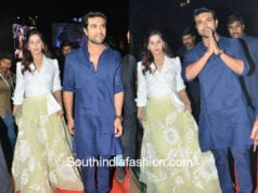 Ram charan and upasana at Rangasthalam Pre-Release Event