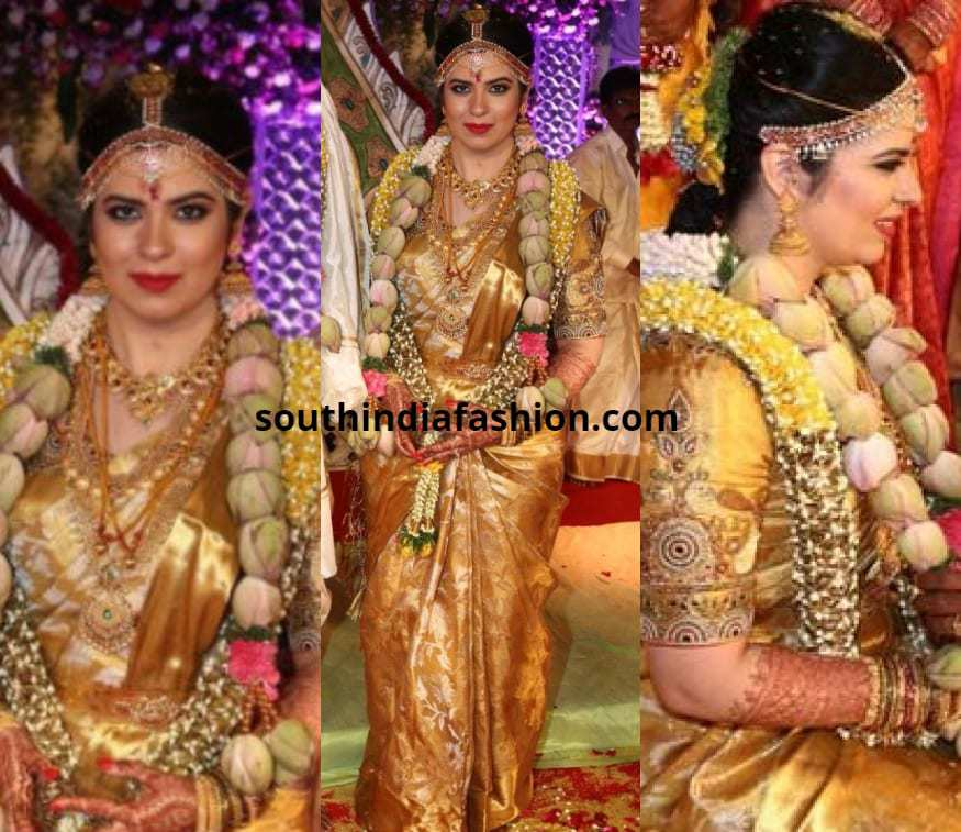 Top 15 Wedding Saree Looks Of South Indian Celebrity Brides