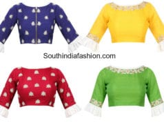 ruffle sleeve blouse designs