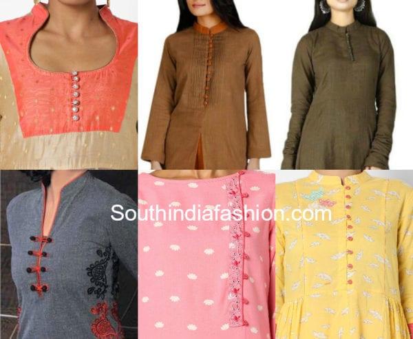 salwar kameez neck designs with buttons