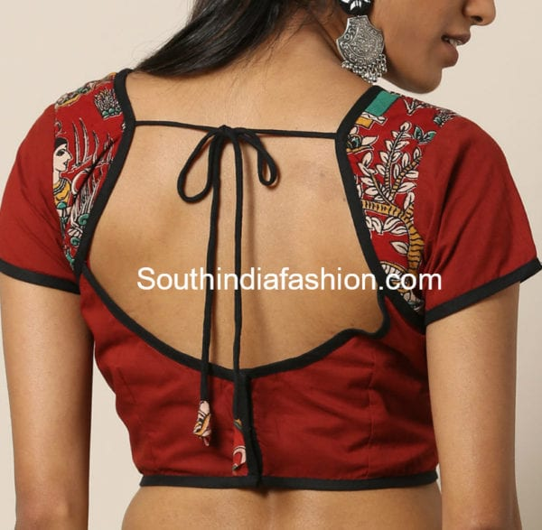 cotton blouse neck designs