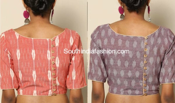 blouse designs with buttons on back