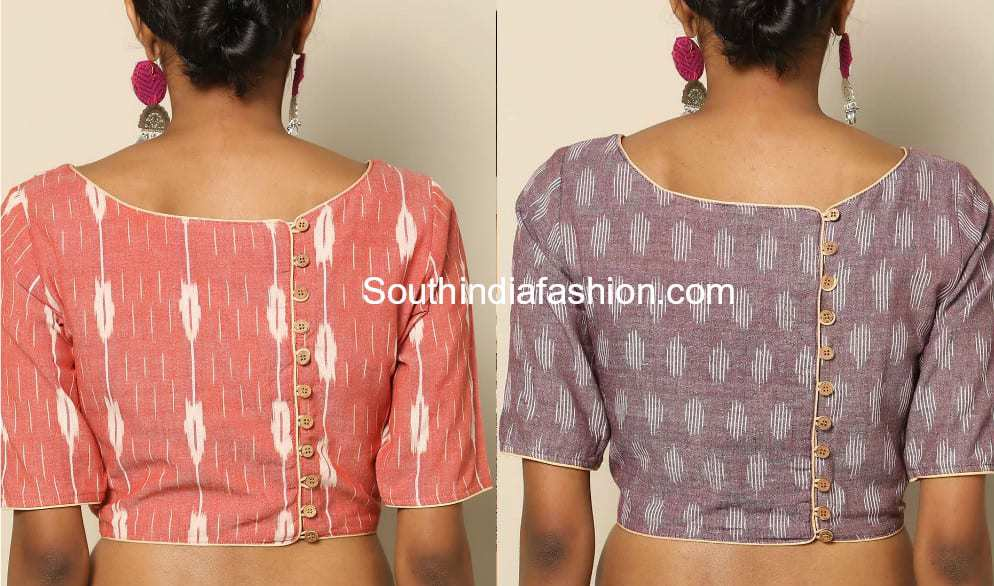 a8b97fa3f3429 Blouse Back Neck Designs For Cotton Saree Blouses