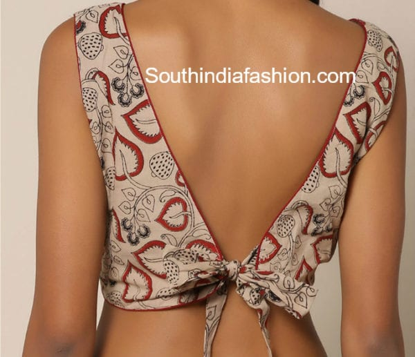 back neck designs for cotton blouse