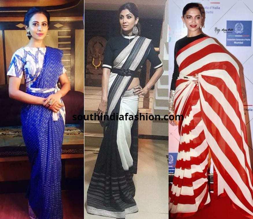 Belted Saree drape