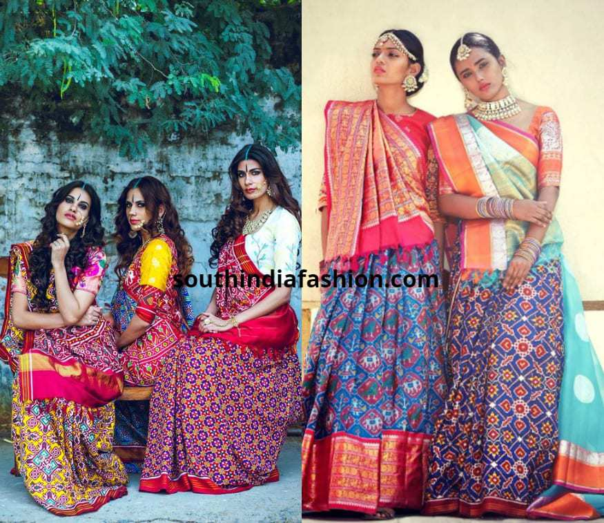 Gujarati Style Saree Drape