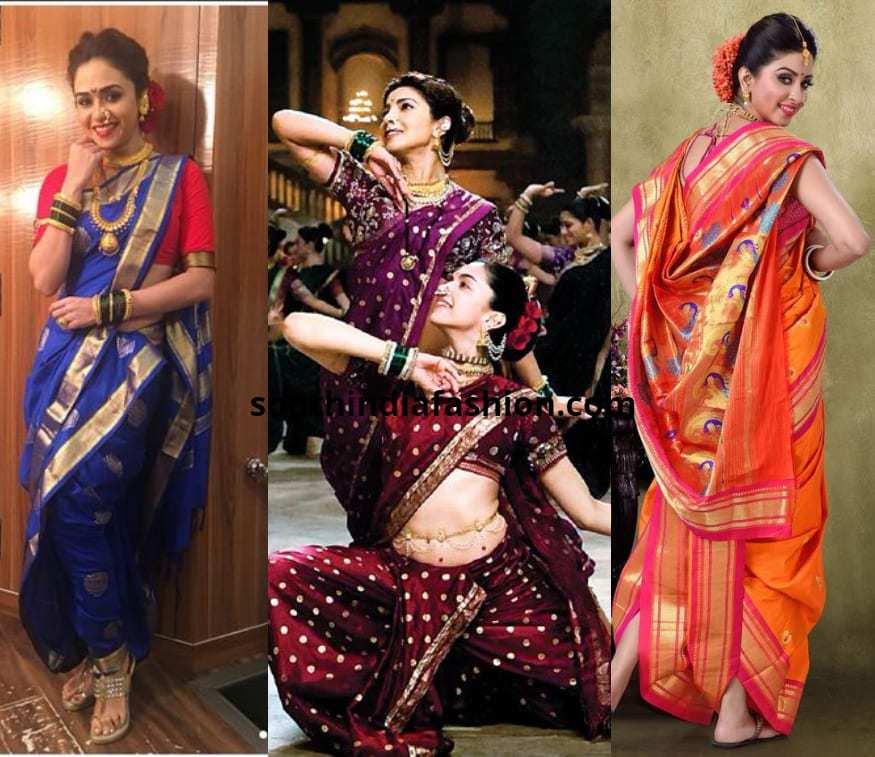 Maharastrian Style Saree Drape
