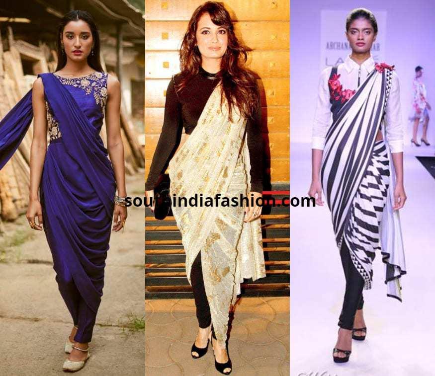 pant style saree draping