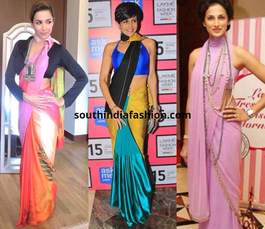 Saree draping styles images