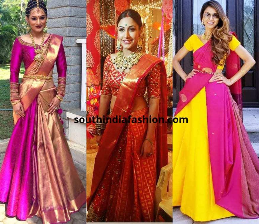 new style Saree Drapes