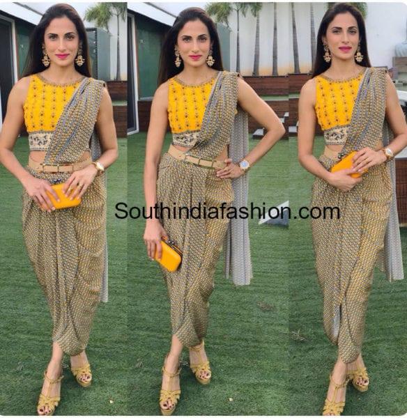 shilpa reddy dhoti saree
