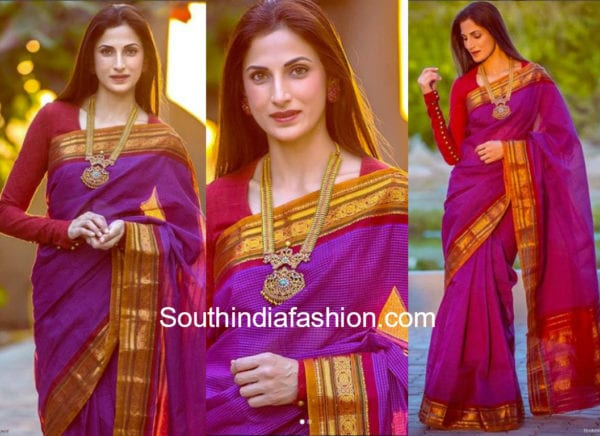 shilpa reddy gadwal saree full sleeves blouse