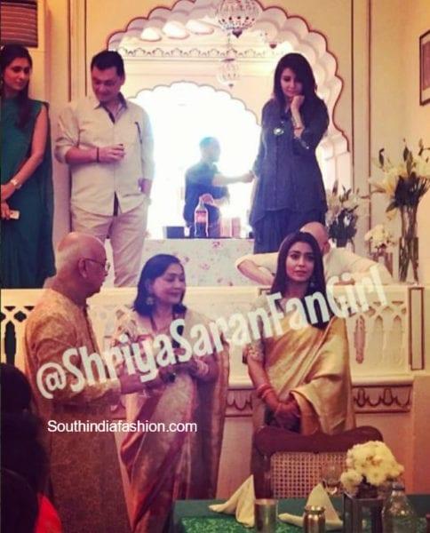 shriya saran engagement photos