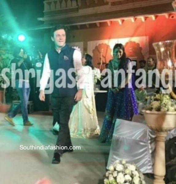 shriya saran sangeet photos