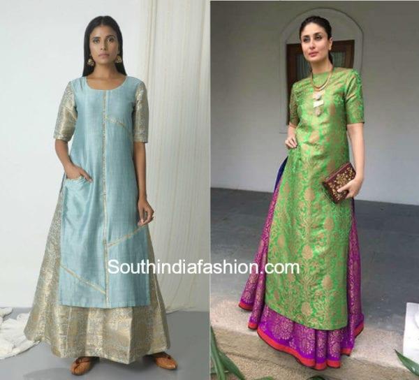 long skirt with kurta