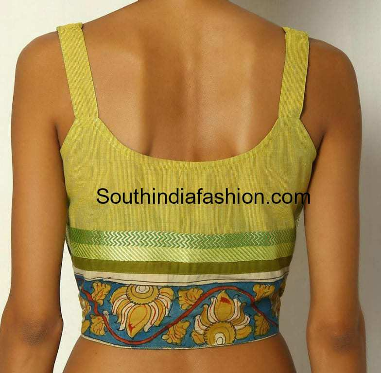 Blouse Back Neck Designs For Cotton Saree Blouses