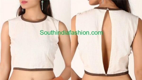 cotton saree blouse designs catalogue