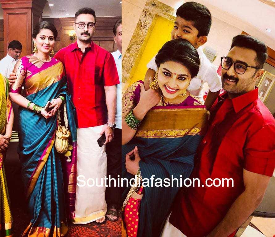 sneha family at actor ashok kumar wedding