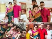 sneha prasanna family at actor ashok kumar wedding