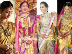 south indian celebrity bride wedding sarees