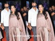 chiranjeevi daughter sreeja at rangasthalam pre release event