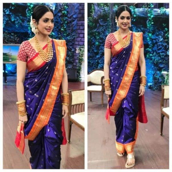 sridevi maharashtrian saree drape