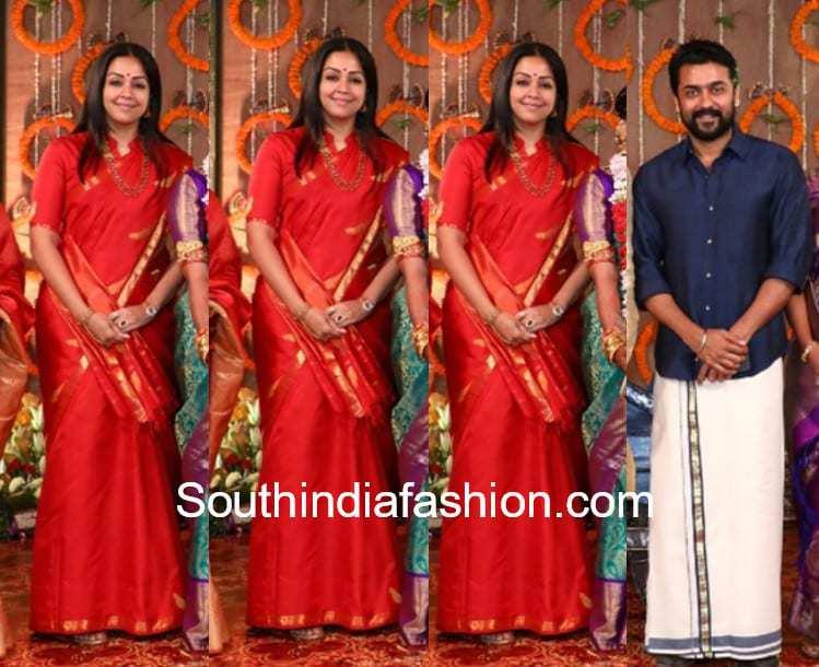 surya and jyothika at keerthana parthiban wedding