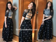tamannaah long skirt crop top