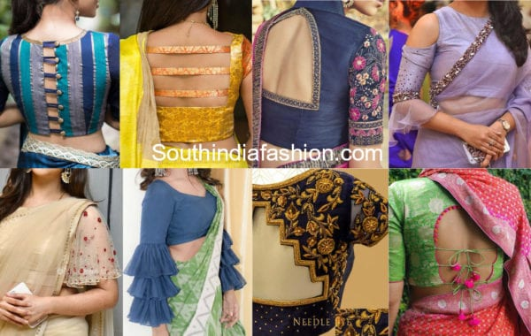 latest trendy saree blouse designs 2018