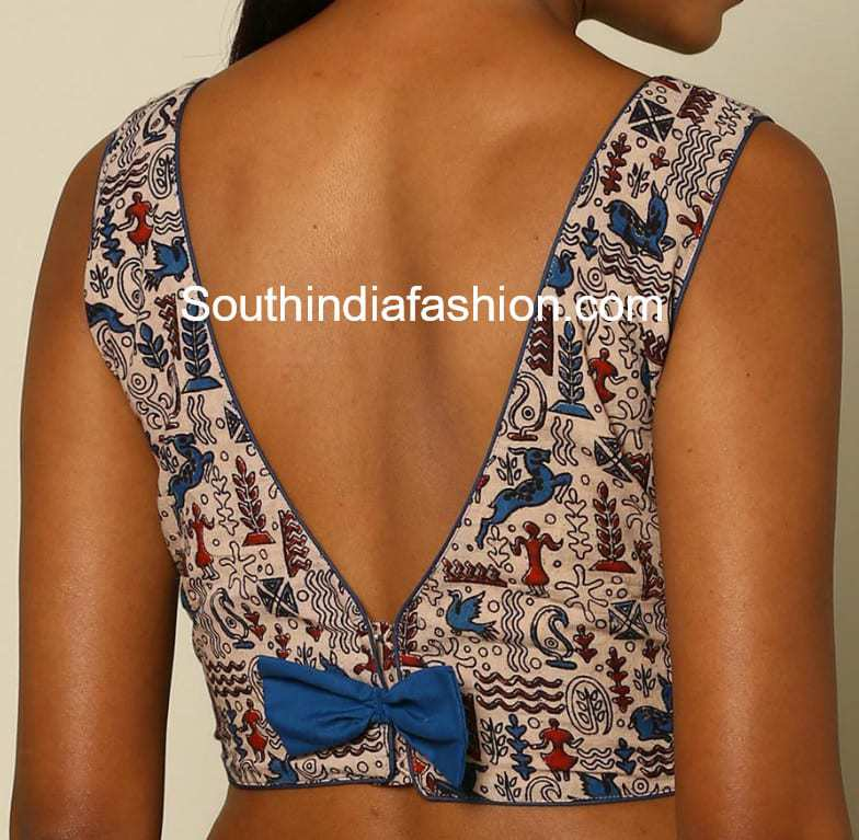 Blouse Back Neck Designs For Cotton Saree Blouses