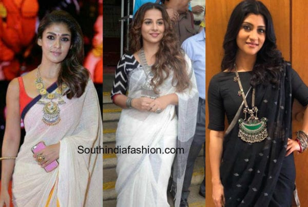 How to Accessorize Linen Sarees