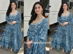 Alia Bhatt in Anita Dongre for Raazi promotions