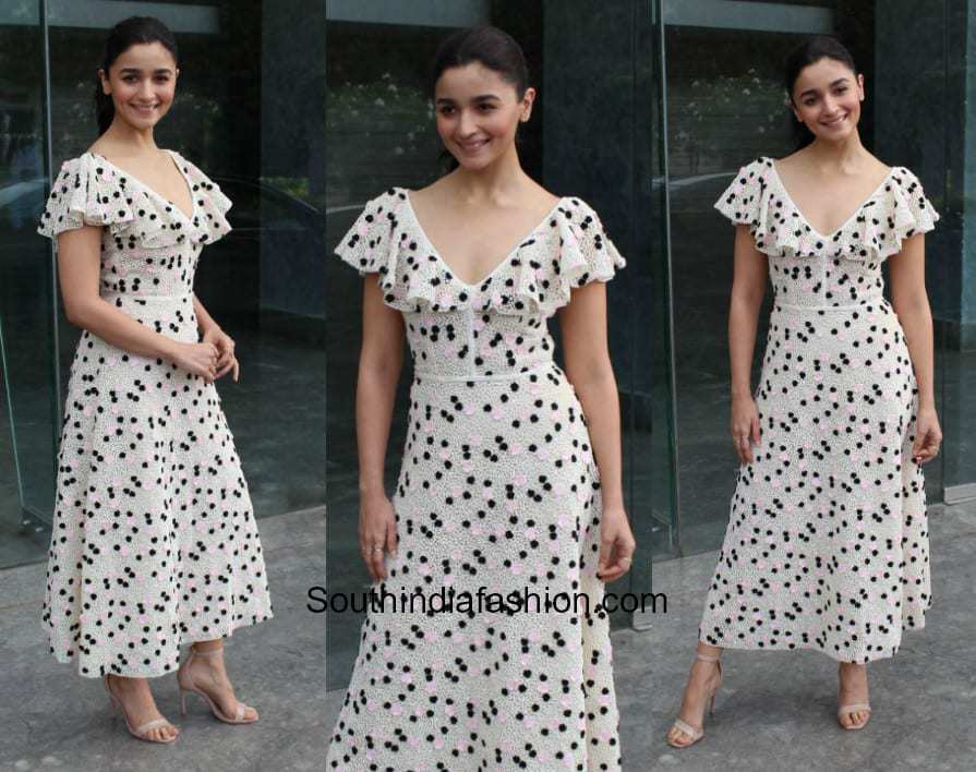Alia Bhatt in Giambattista Valli for Raazi Promotions