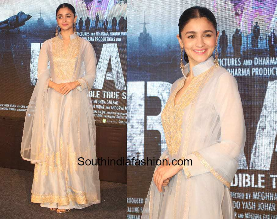 Alia Bhatt in Manish Malhotra for Raazi song launch 1