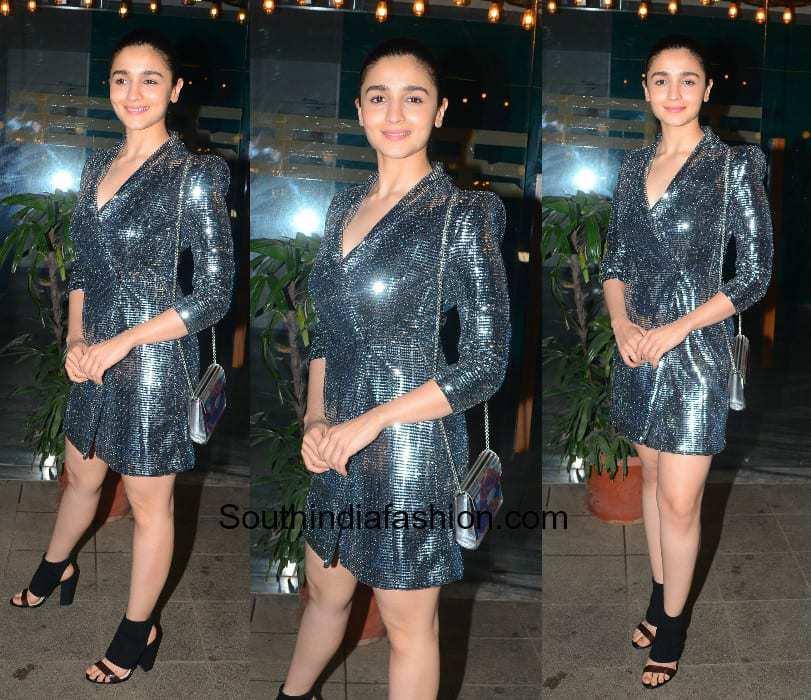 Alia Bhatt in Zara for the wrap party of Gully Boy