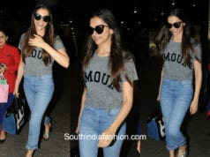 Deepika Padukone in Zadig and Voltaire at the airport