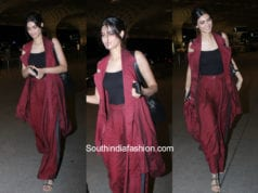 Diana Penty in western wear at the airport