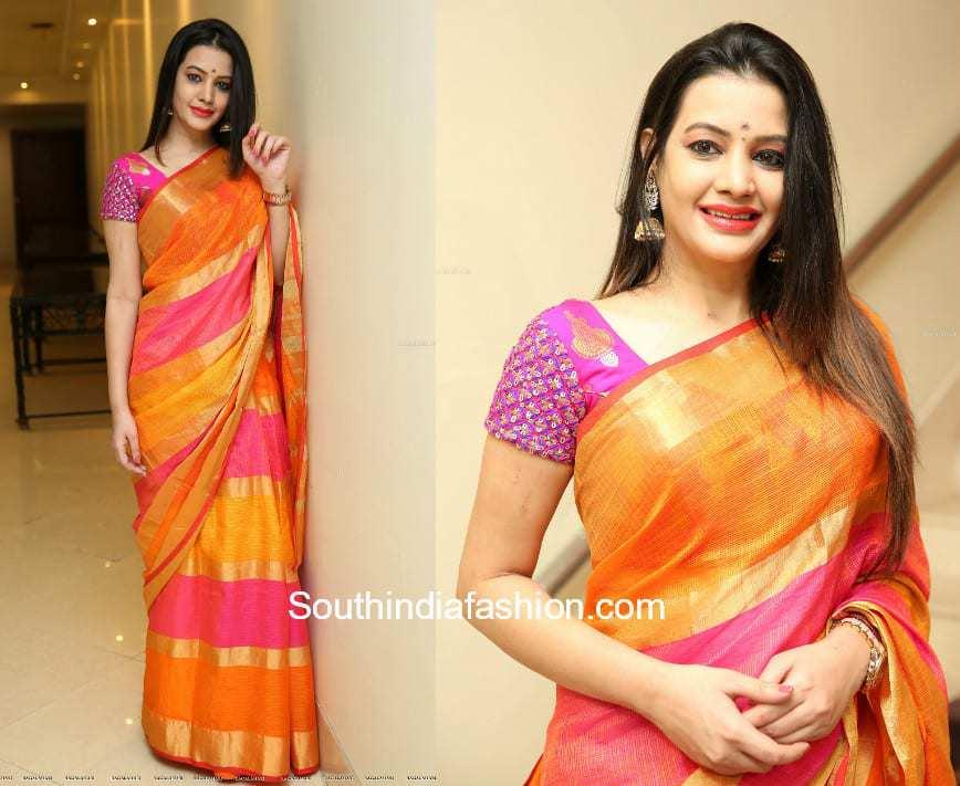 Diksha Panth in a saree at Style Bazaar Launch 1