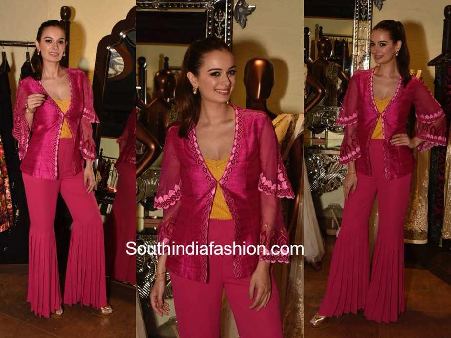 Evelyn Sharma in Chandni Sahi for the annual fundraiser at Jhelum Fashion House