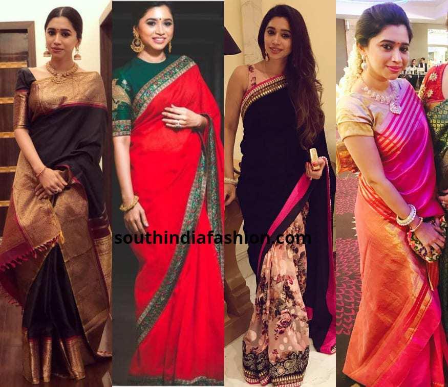 Saree Looks Of Stylish Star Wife Aarti Ravi