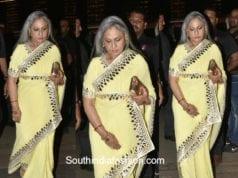Jaya Bachchan in a saree at Saudamini Mettu's Wedding Reception