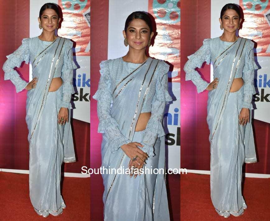 Jennifer Winget in Tyagi Aishwarya Saree at Dada Saheb Phalke Awards