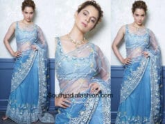 Kangana Ranaut in Anita Dongre saree for a wedding reception